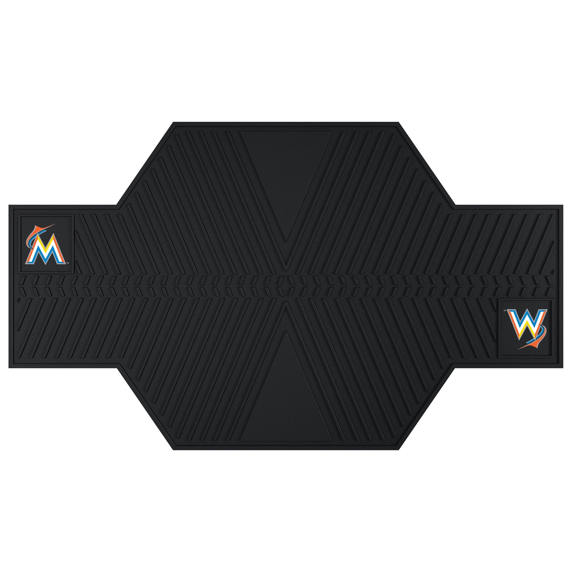 Sports Licensing Fanmats Miami Marlins Black Rubber Motor...