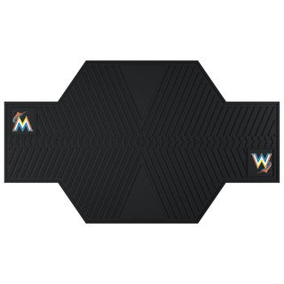 Fanmats Miami Marlins Black Rubber Motorcycle Mat