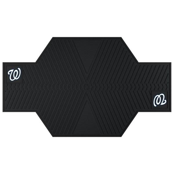 Fanmats Washington Nationals Black Rubber Motorcycle Mat
