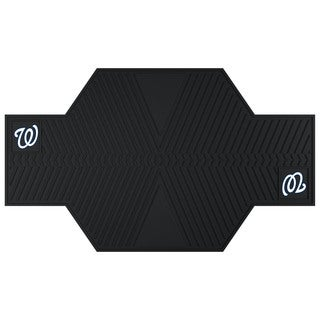 Fanmats Washington Nationals Black Rubber Motorcycle Mat