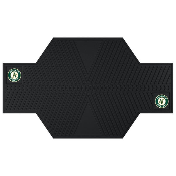 Fanmats Oakland Athletics Black Rubber Motorcycle Mat