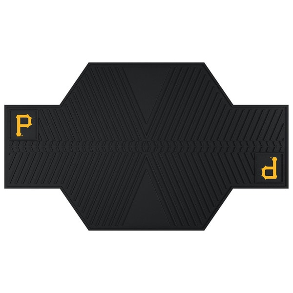 Fanmats Pittsburgh Pirates Black Rubber Motorcycle Mat