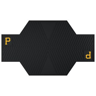 Fanmats Pittsburgh Pirates Black Rubber Motorcycle Mat