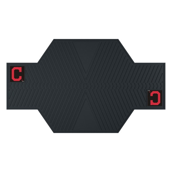 Fanmats Cleveland Indians Black Rubber Motorcycle Mat