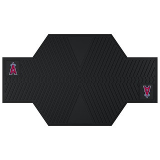 Fanmats Los Angeles Angels Black Rubber Motorcycle Mat