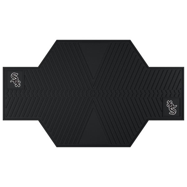 Fanmats Chicago White Sox Black Rubber Motorcycle Mat
