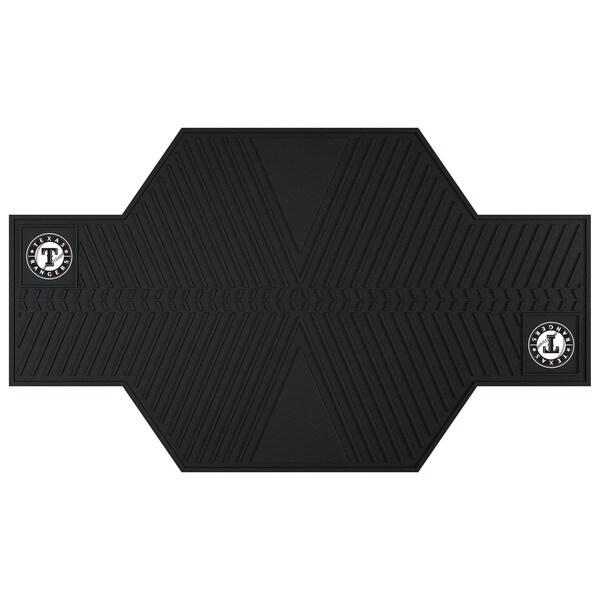Fanmats Texas Rangers Black Rubber Motorcycle Mat