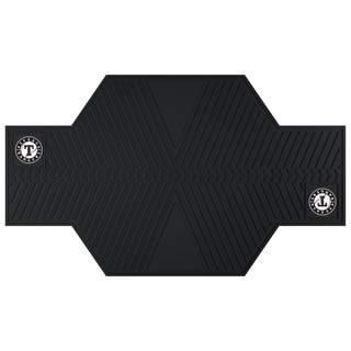 Fanmats Texas Rangers Black Rubber Motorcycle Mat