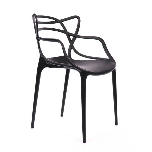 Superb Shop Masters Polypropylene Black Modern Stackable Arm Chair Gmtry Best Dining Table And Chair Ideas Images Gmtryco