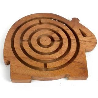 Handcrafted Sheesham Wood Animal Maze (India)