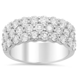 Artistry Collections 14k White Gold 3 3/4ct TDW Diamond 3-row Engagement Ring (E-F, SI1-SI2)