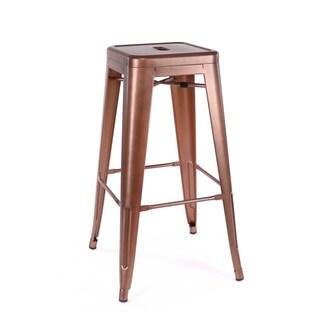 Dreux Stackable Vintage Copper Steel Barstool (Set of 4)