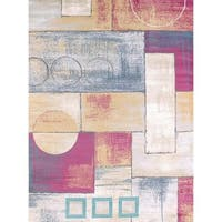 Structures Block and Cirlce Area Rug - 7'10 x 10'6