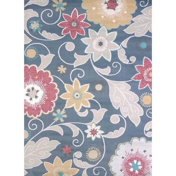 Structures Mixed Floral Area Rug (7'10 x 10'6') - Multi - 7'10 x 10'6