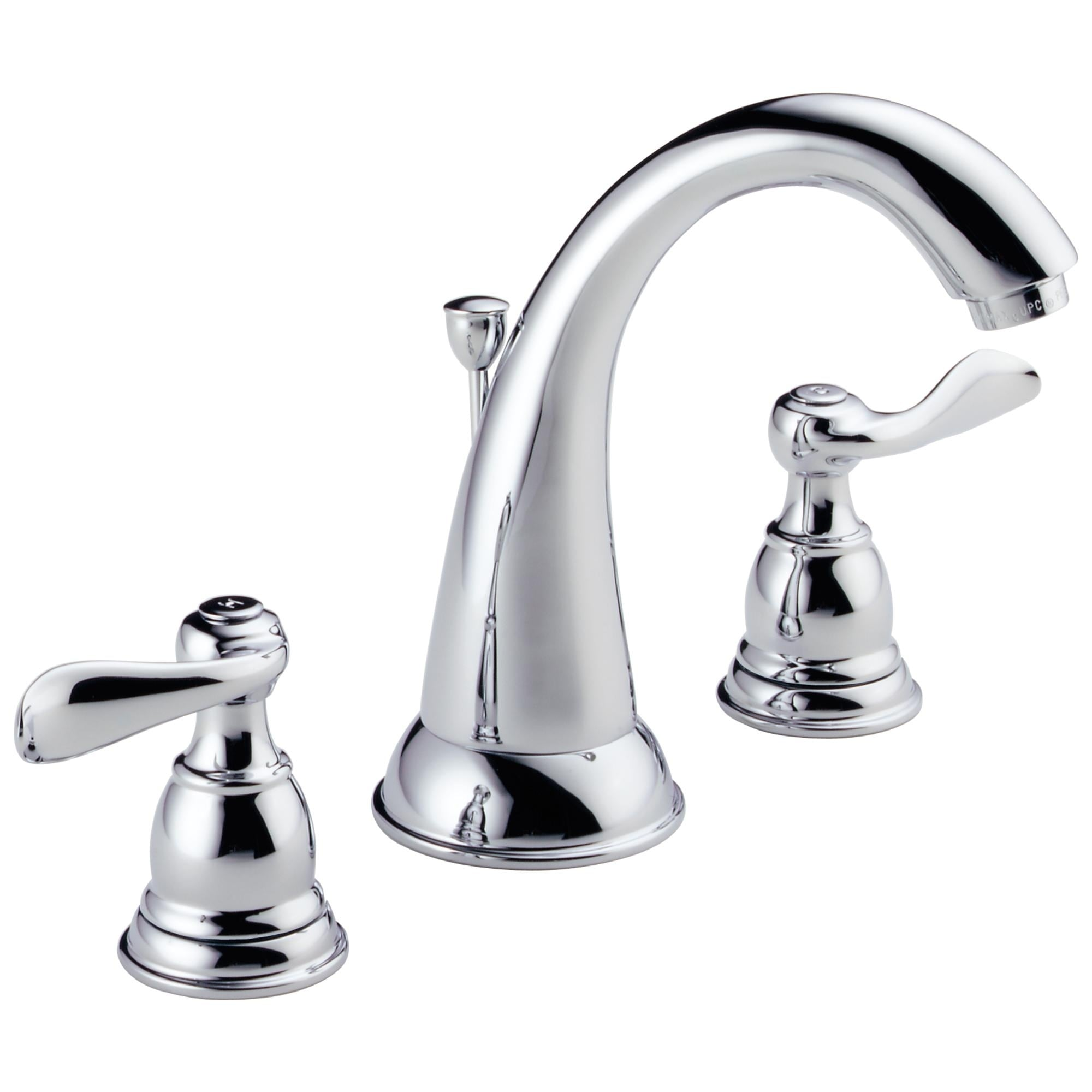 Delta Chrome (Grey) Foundations Two Handle Widespread Lav...