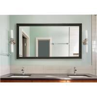 American Made Extra Large 37.5 x 76.5-inch Vintage Black Vanity Wall Mirror - Black/Silver