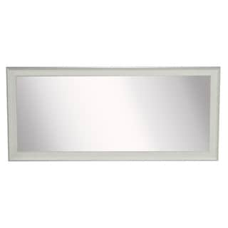 American Made Rayne Extra Large 37.5 x 76.5-inch Vintage White Vanity Wall Mirror