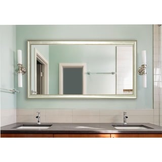 American Made Rayne Extra Large Vintage Silver Wall/ Vanity Mirror