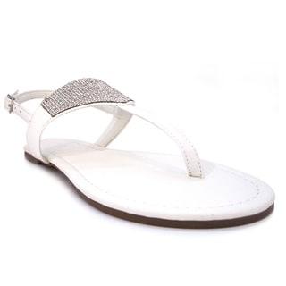 Olivia Miller 'Angelica' Shimmer Rhinestones Embellished Hooded Sandals