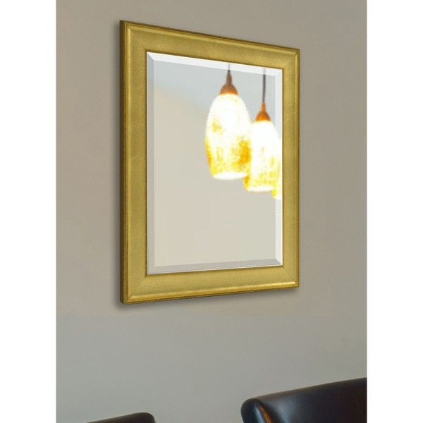American Made Rayne Vintage Gold Vanity Wall Mirror