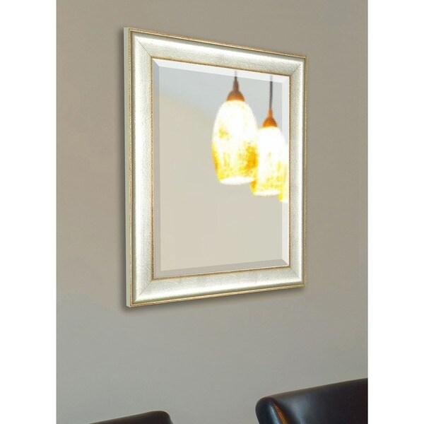 American Made Vintage Silver Wall/ Vanity Mirror - Silver/Bronze
