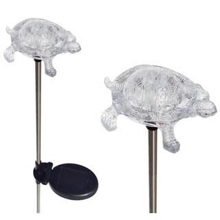 Tricod Turtle Solar Powered Garden Stake Light (Set of 2)
