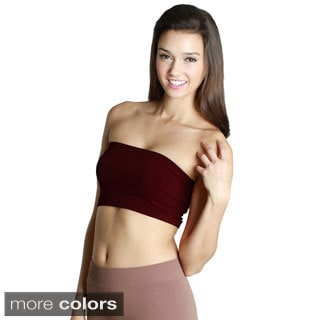 Nikibiki Women's Seamless Reds/ Purples Bandeau Top