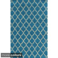 Rizzy Home Julian Pointe Collection Hand-Tufted 100-percent Wool Accent Rug - 3' x 5'