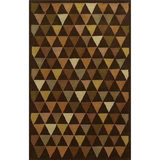 Rizzy Home Julian Pointe Collection 100-percent Wool Hand-Tufted Accent Rug (3' x 5')