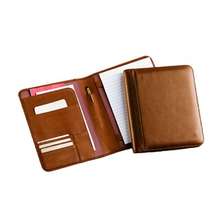 Bellino Business Junior Puebla Napa Leather Memo Padfolio (Option: Tan)