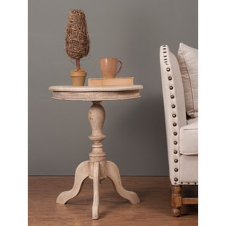 Decorative Ulysses Rustic Brown Round Accent Table