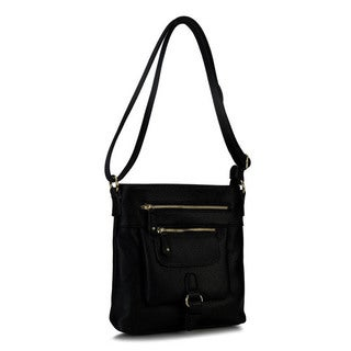 Rimen & Co. Double Zipper and Belt Design Cross Body Messenger Bag