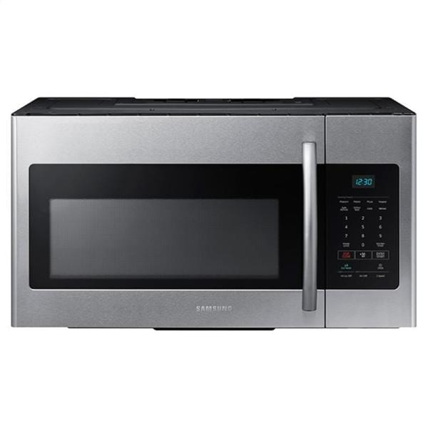 Samsung 1 6 Cubic Foot Over The Range Microwave Oven Stainless Steel