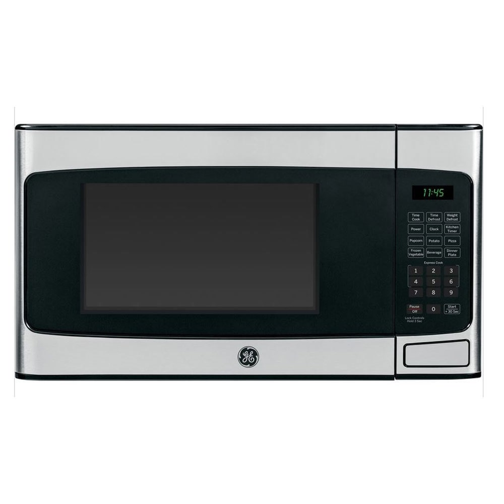 GE 1.1-cubic-foot Countertop Microwave Oven Stainless Steel Finish GE 1.1 cu. ft. Countertop Microwave Oven SS Finish