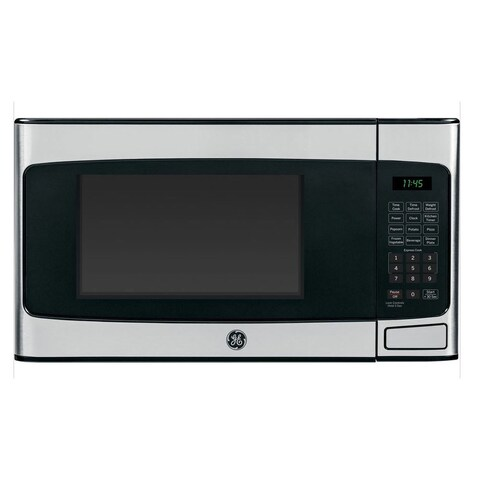 GE 1.1-cubic-foot Countertop Microwave Oven Stainless Steel Finish