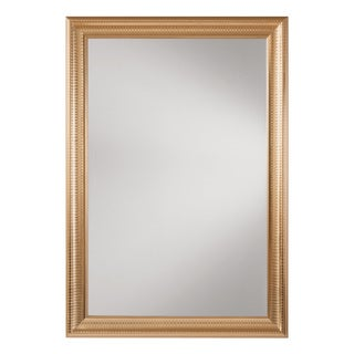 Savoy Rectangle Wall Mirror with Regency Gold Frame