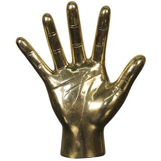 Brass Open Hand Statue