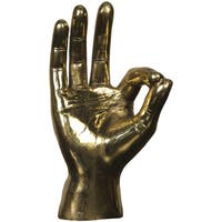 Brass OK Sign Hand Decor