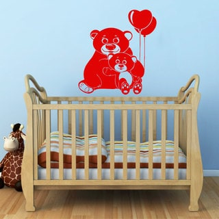 Cute Bear Vinyl Sticker Wall Art