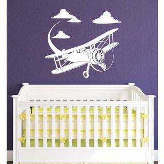 Old Airplane Plane Vinyl Sticker Wall Art