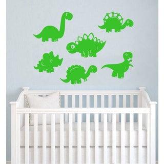 Dinosaurs Vinyl Sticker Wall Art (Set of 6)
