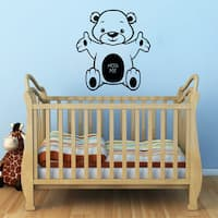 Bear Hug Me Nursery Vinyl Sticker Wall Art