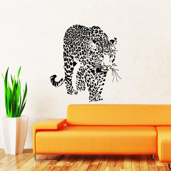Shop Leopard Cheetah Vinyl Sticker Wall Art - Free Shipping On ...