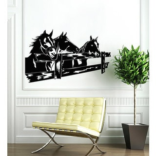 Horses Farm Vinyl Sticker Wall Art