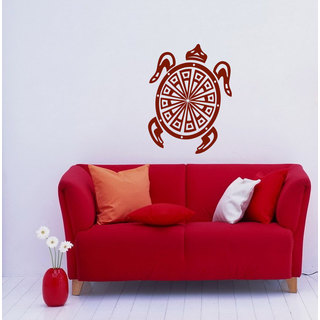 Burgundy Turtle Vinyl Sticker Wall Art