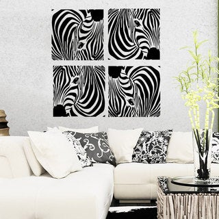Zebras Prints Vinyl Sticker Wall Art