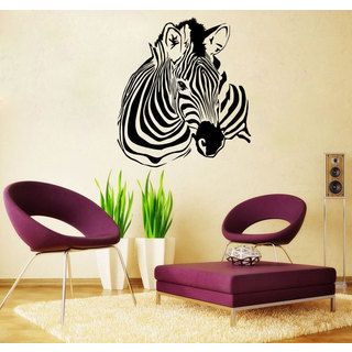 Zebra Head Vinyl Wall Art