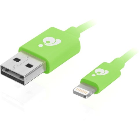 IOGEAR Charge & Sync Flip 3.3ft (1m) - Green, Reversible USB to Light