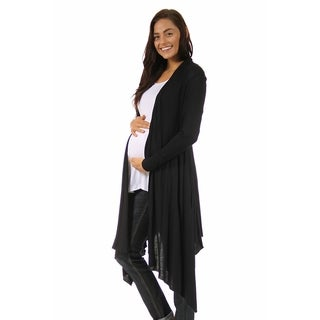 24/7 Comfort Apparel Women's Flowing Long Maternity Sleeve Shrug (More options available)
