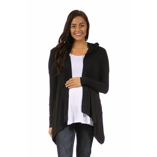 24/7 Comfort Apparel Women's 2-Pocket Hooded Maternity Shrug